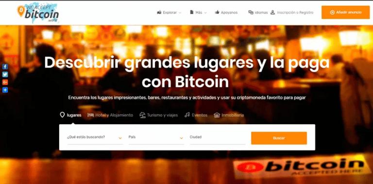 Aceptamos Bitcoin, directorio de comercios con criptomonedas