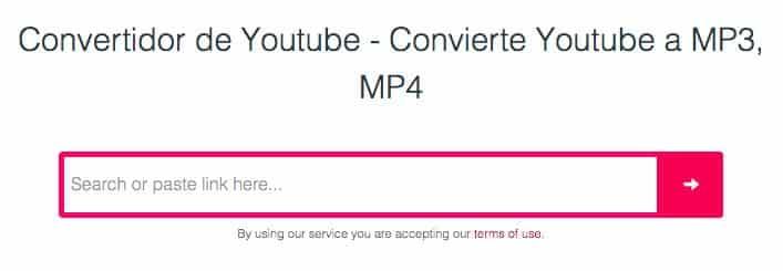 convertidor de youtube a mp3