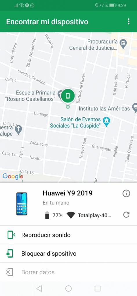 rastrear celular android