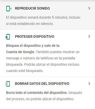 borrar datos del dispositivo