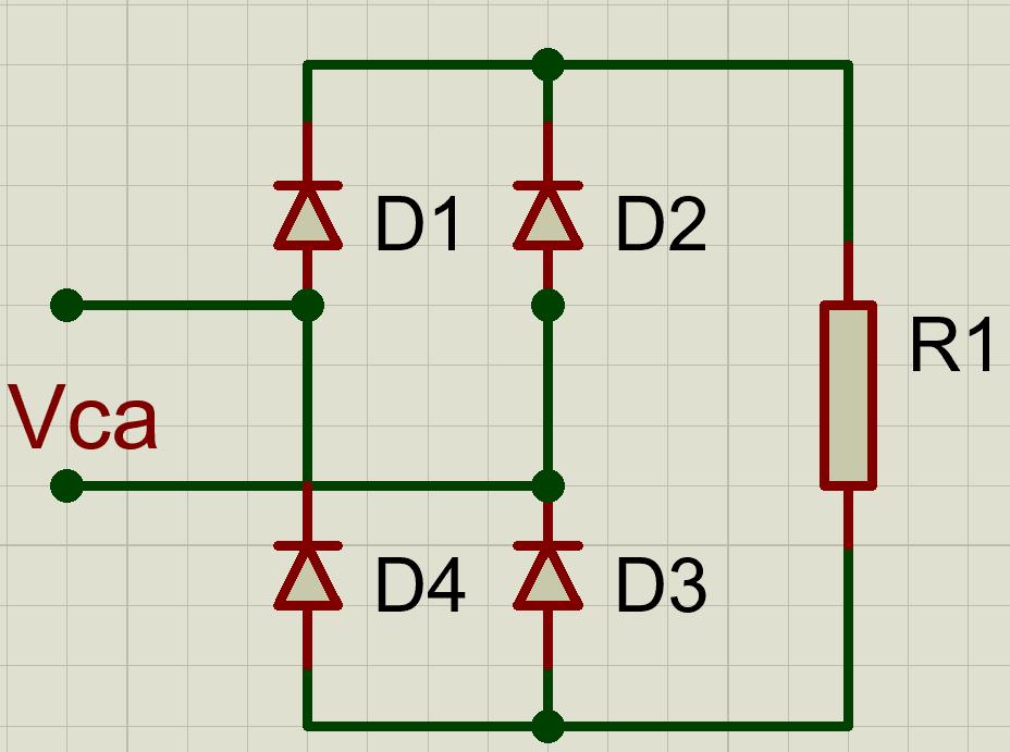 Circuito rectificador de onda completa