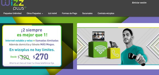 Internet y telefonía wizz plus pagina web